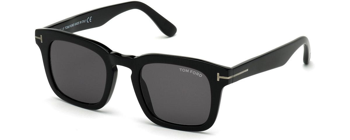 """01A - Shiny Black/ Smoke Lenses/ Shiny Black """"t"""" Temple Detail"""