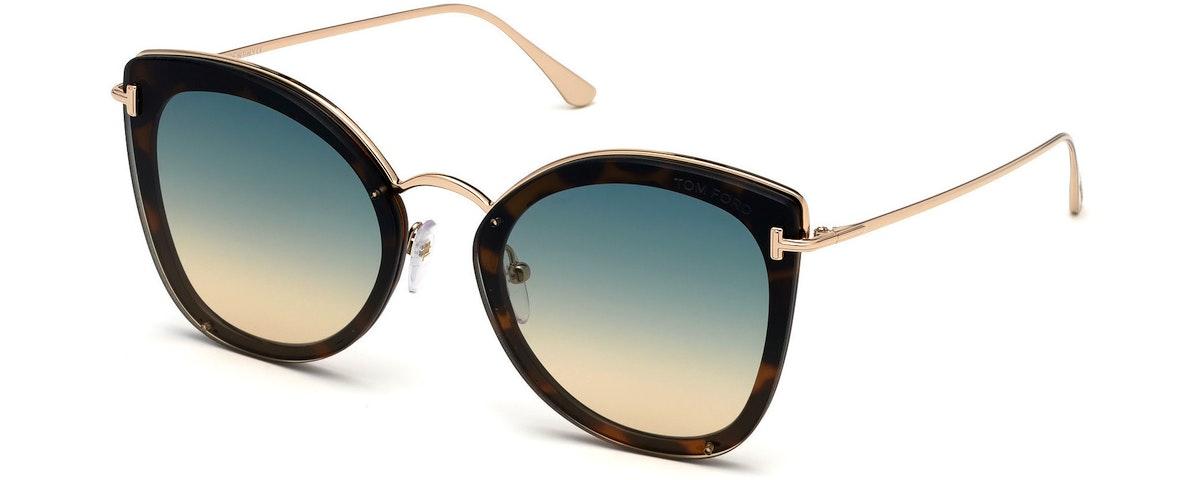 53P - Shiny Blonde Havana, Shiny Rose Gold / Grad. Turquoise-To-Sand Lenses