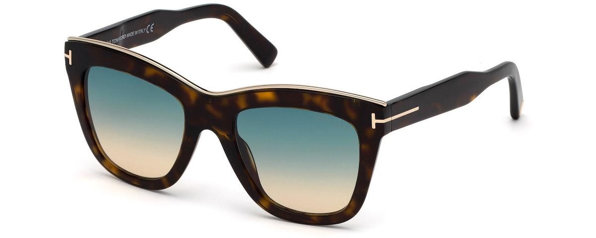 52P - Shiny Dark Havana/ Gradient Turquoise-To-Sand Lenses